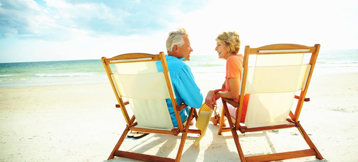 Seniors on the beach
