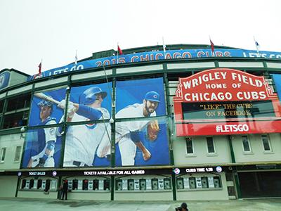 Wrigley Field baseball park in Chicago